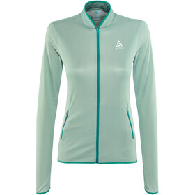 Odlo FLI Full Zip Midlayer Women bayou-surf spray stripes